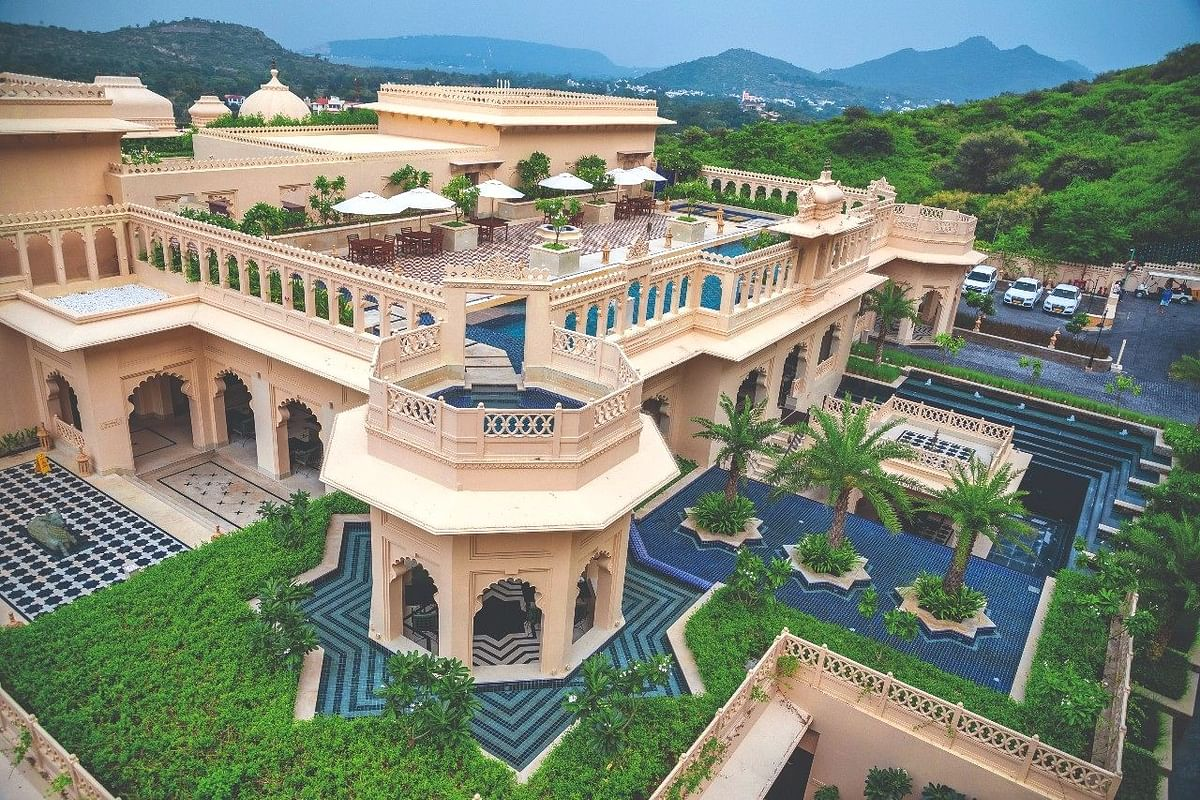Aurika Udaipur is a massive property spread out over a hill