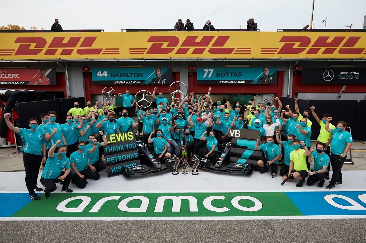 Mercedes has now won seven consecutive constructors' titles
