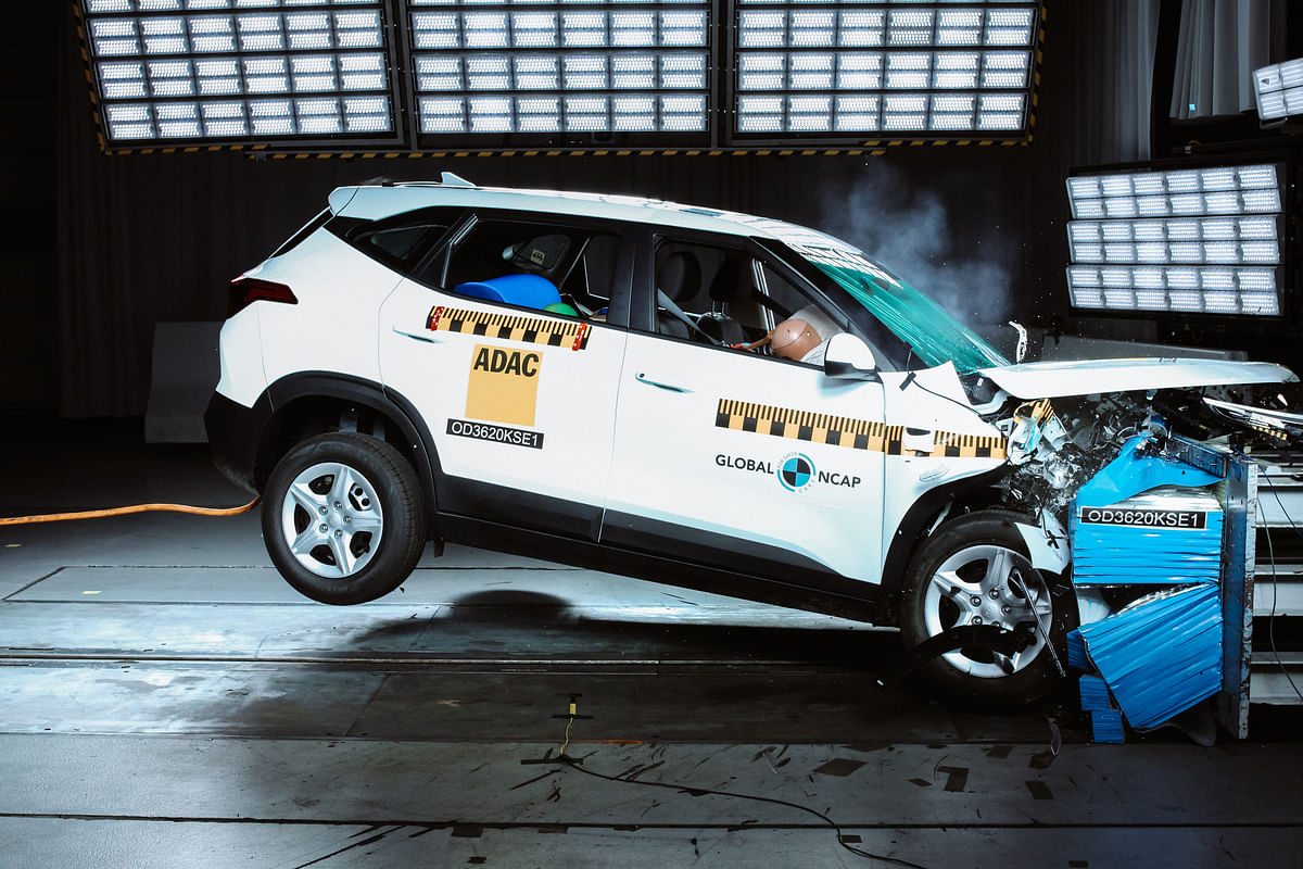 The Kia Seltos scored a three star rating for adult occupants