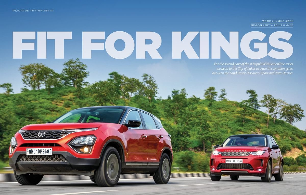 We go on a road trip to Udaipur in the Harrier and Discovery Sport
