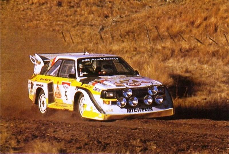 Stig Blomqvist at the 1985 Argentina Rally