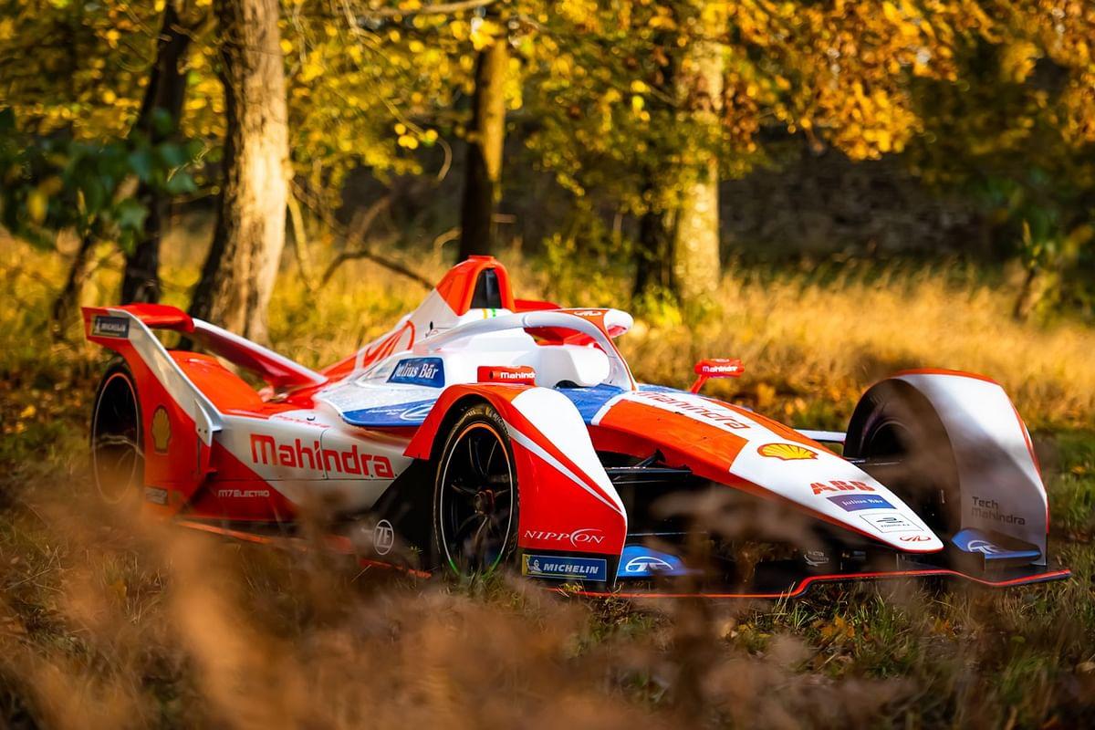 The new Mahindra Racing M7Electro racecar