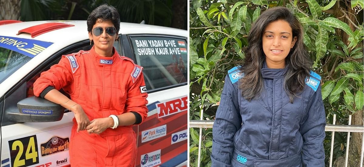 The Vasundhara team will comprise rallyists Dr Bani Yadav (left) and Pragathi Gowda
