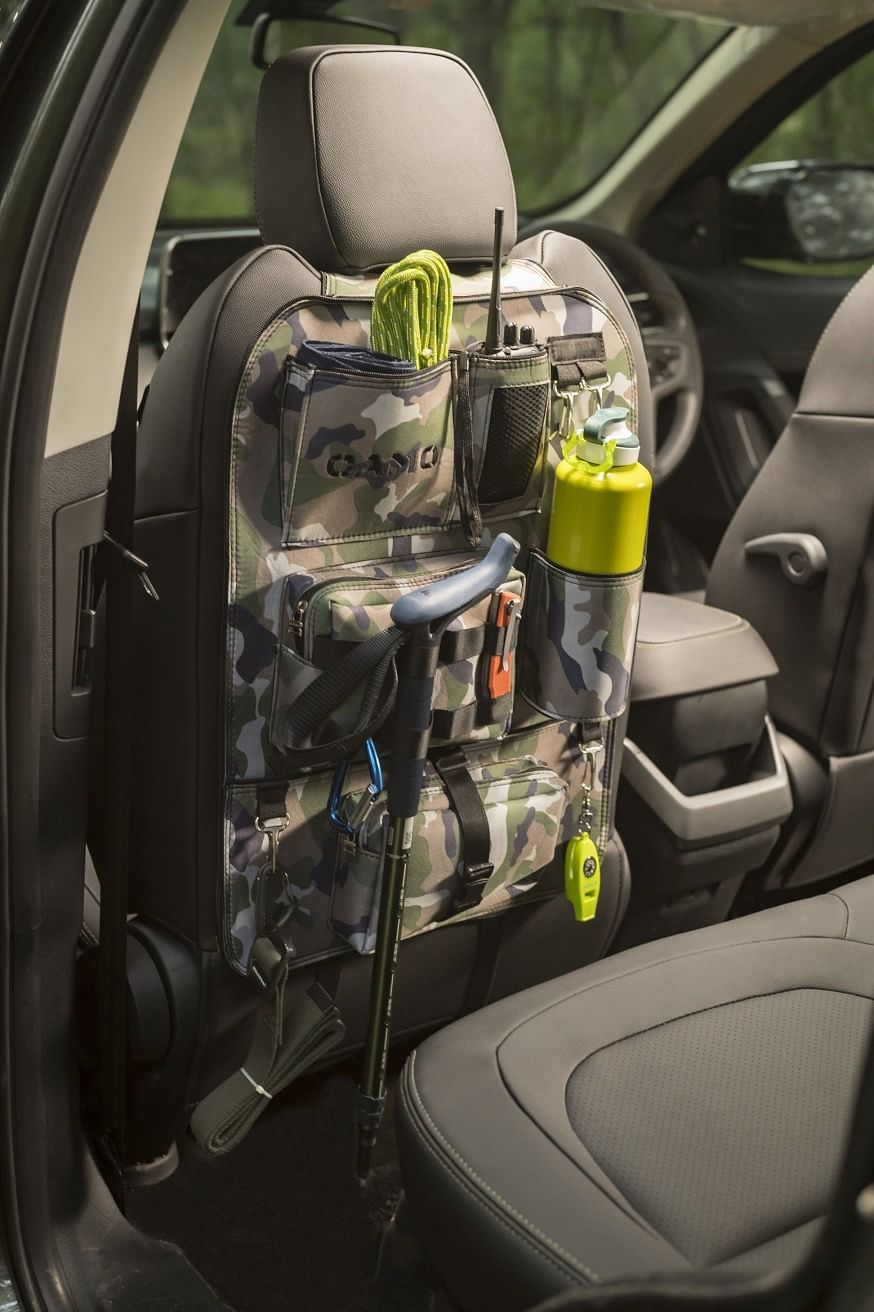 The interiors get a back seat organiser