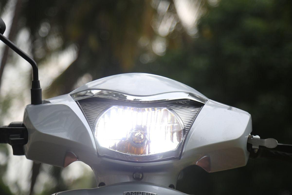 Headlight adequately bright, but beamspread too narrow