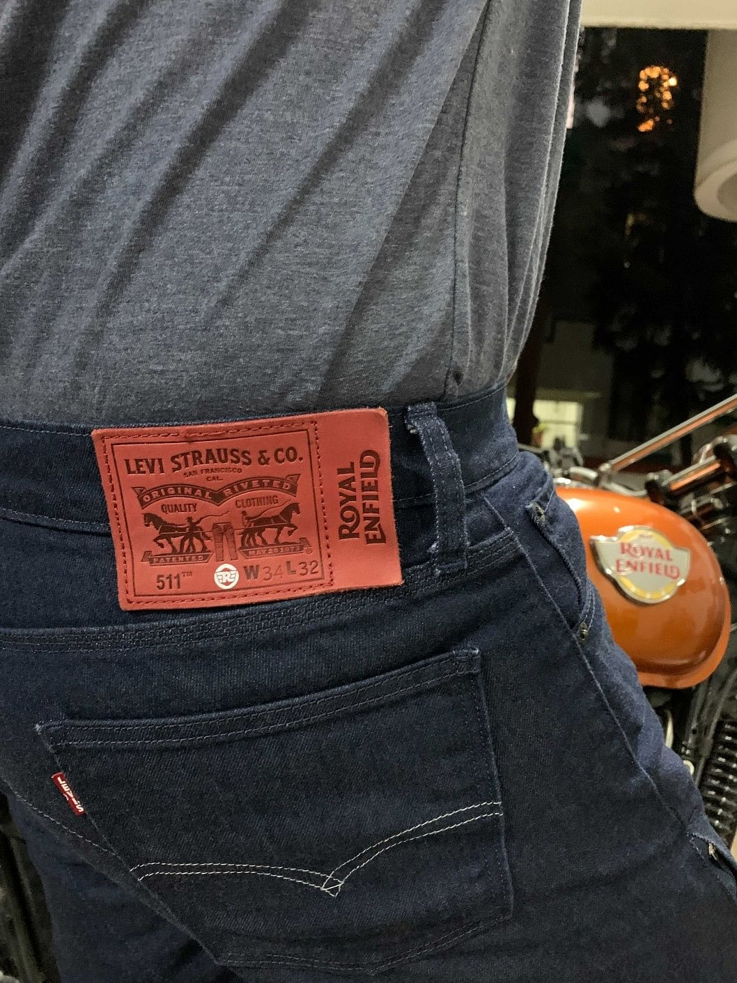 The Royal Enfield Levi's motorcycle jeans are now being offered in 10 designs
