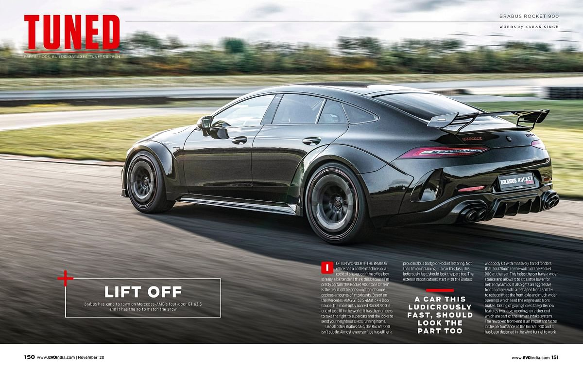 The Tuned section features the Brabus Rocket 900 - a tuned AMG GT 63