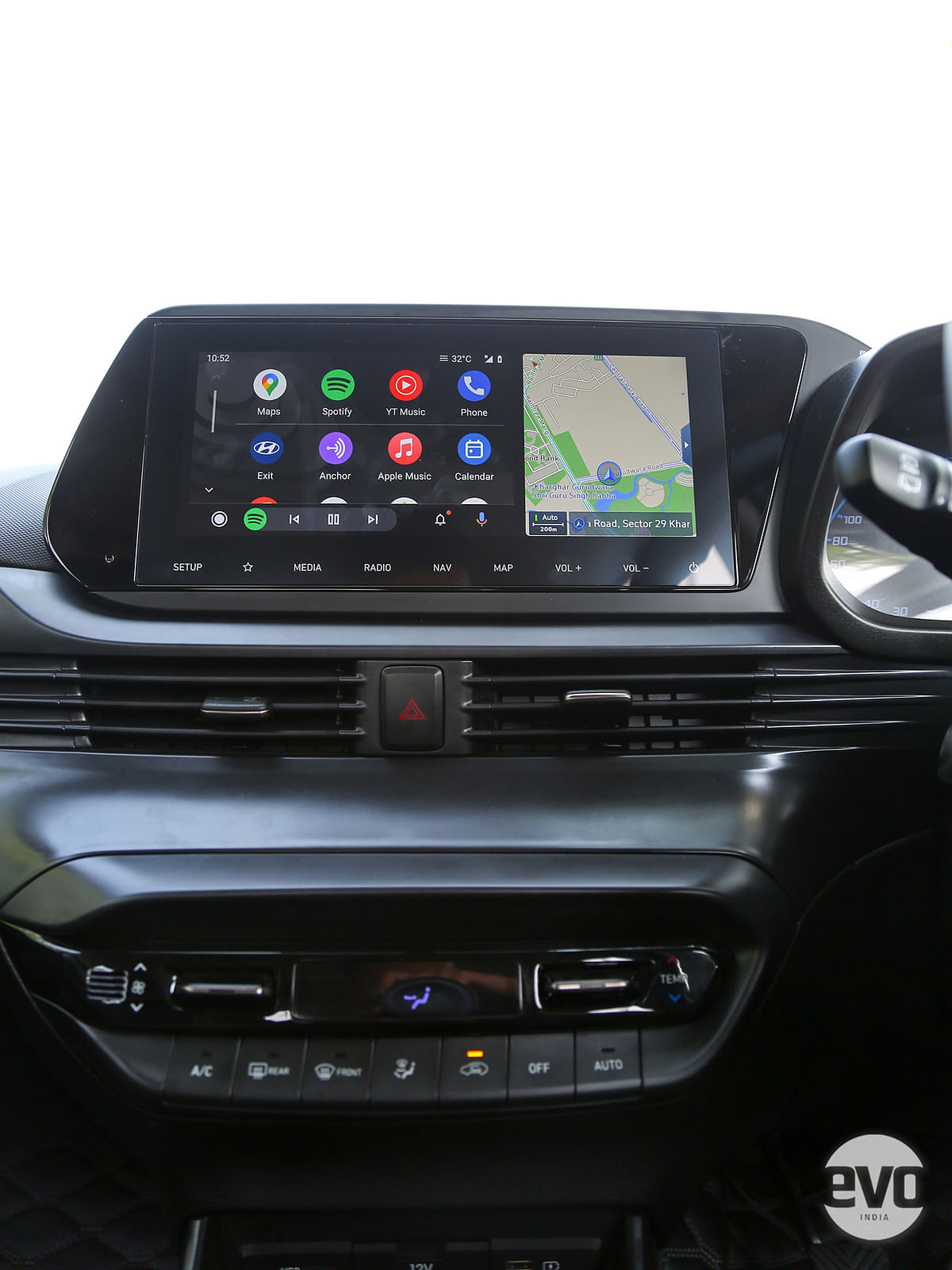 A 10.25-inch touchscreen infotainment system
