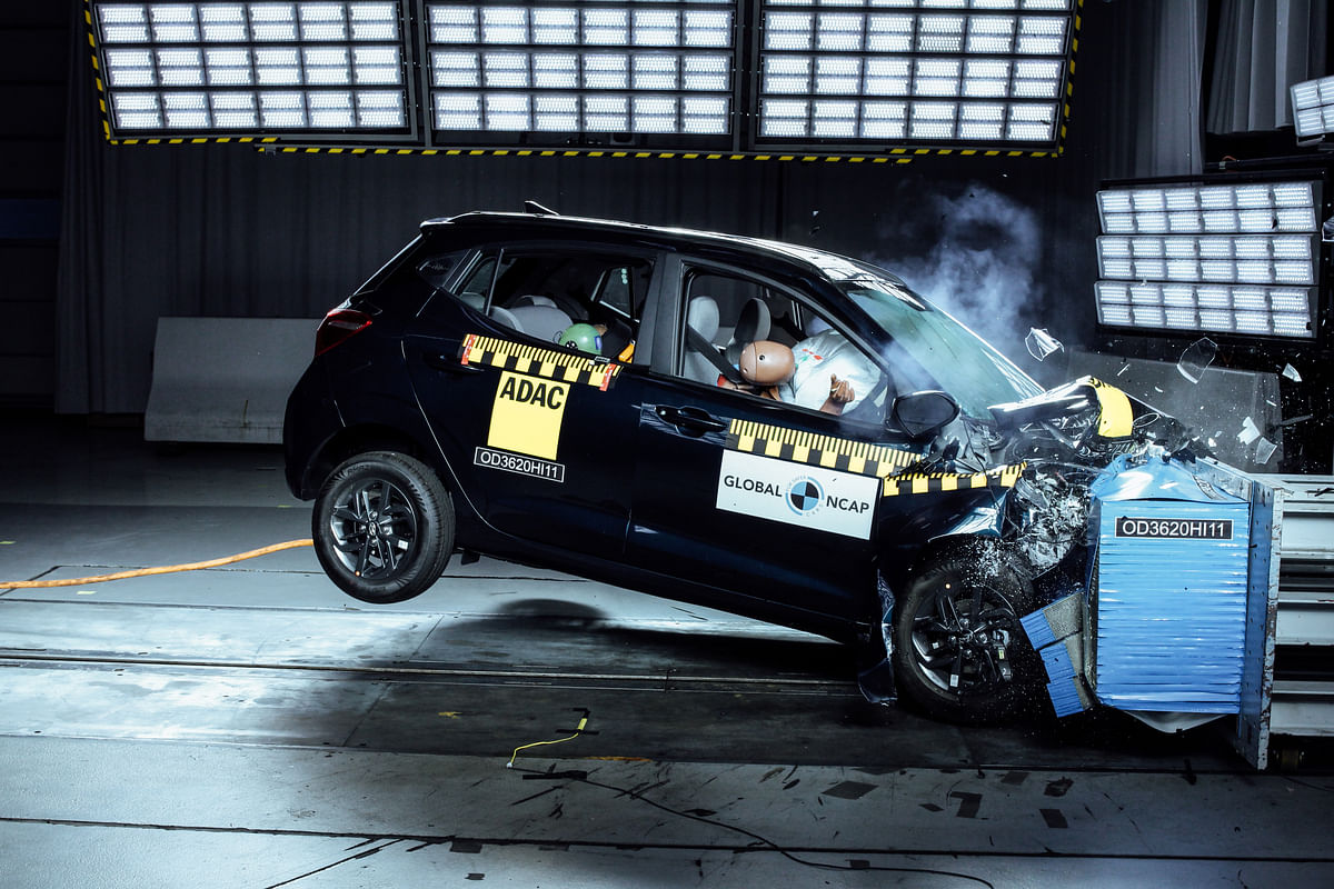 The Hyundai Grand i10 Nios scored a two star rating for adult occupants