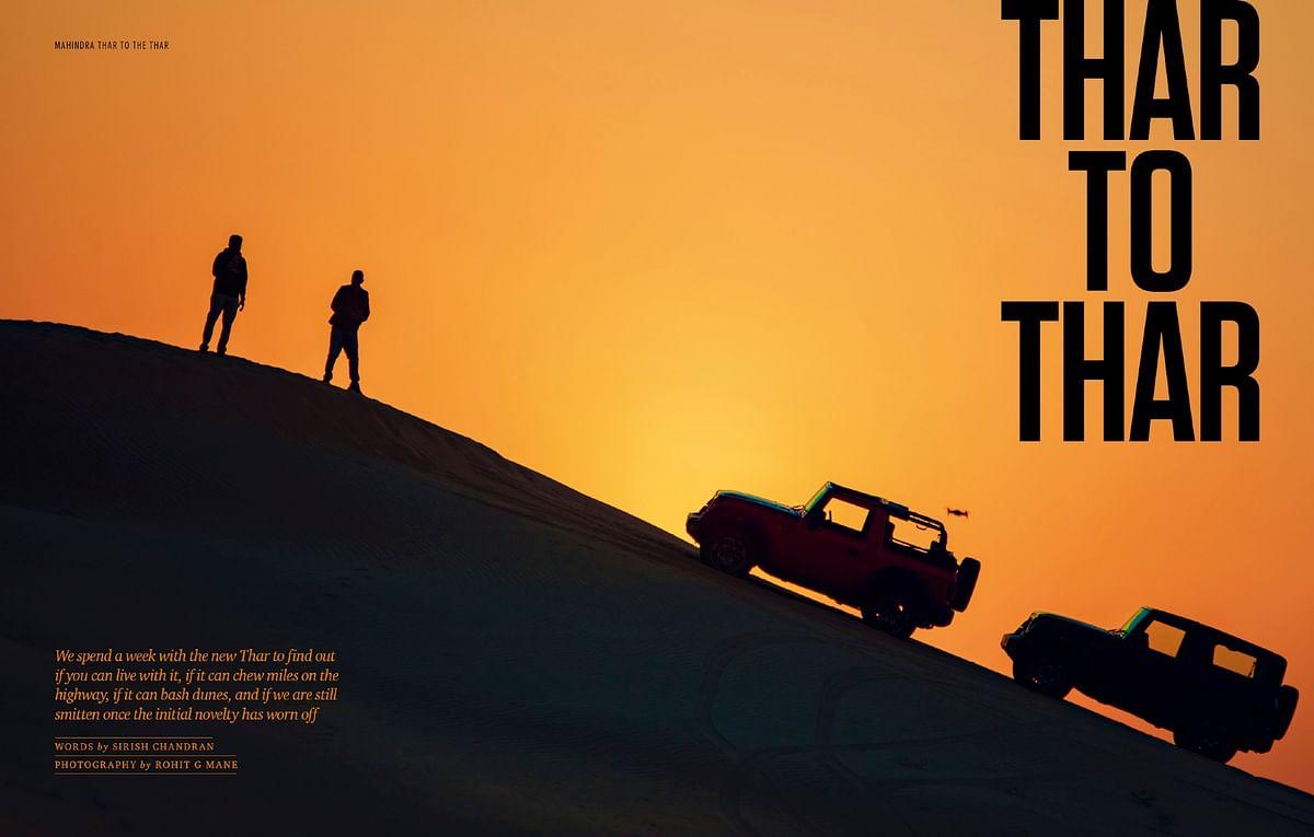 Driving the all-new Mahindra Thar to the Thar desert