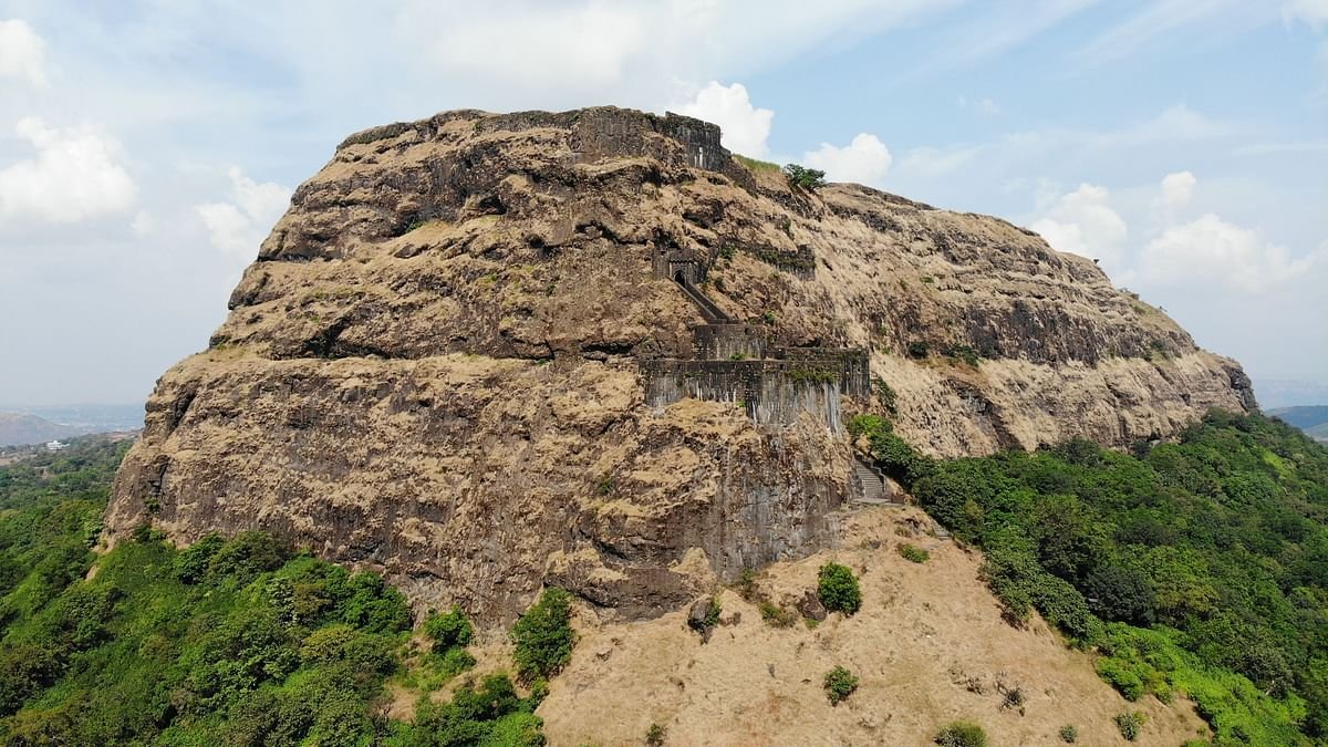 The Lohagad fort was used as a treasury by the Marathas