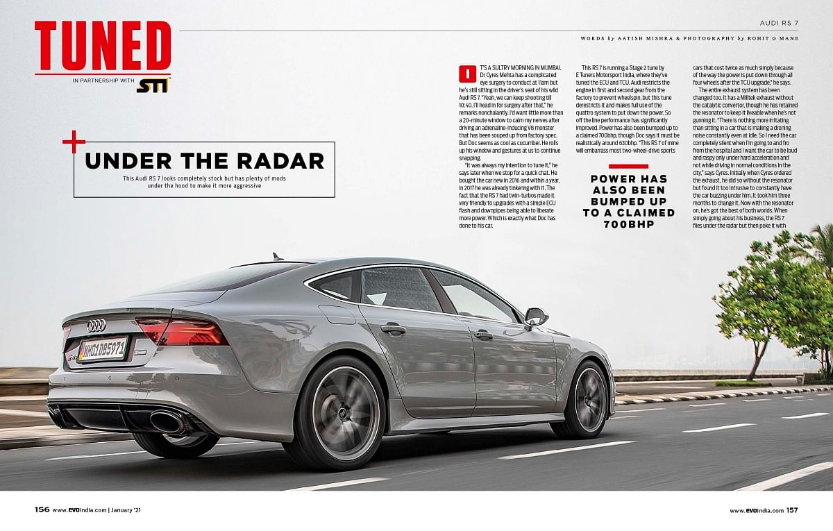 This time we feature the Audi RS7 with a Stage 2 Tune in the tuned section