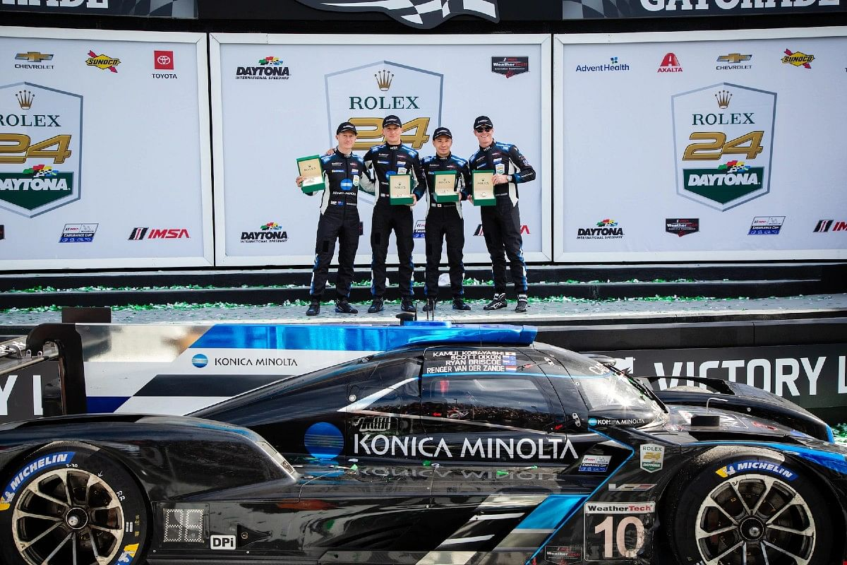 2020 Rolex 24 at Daytona winning team - Konica Minolta