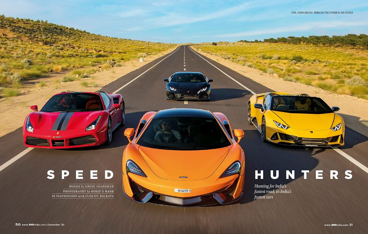 Recreating memories with the fast cars on the fastest roads we have ever seen in this country