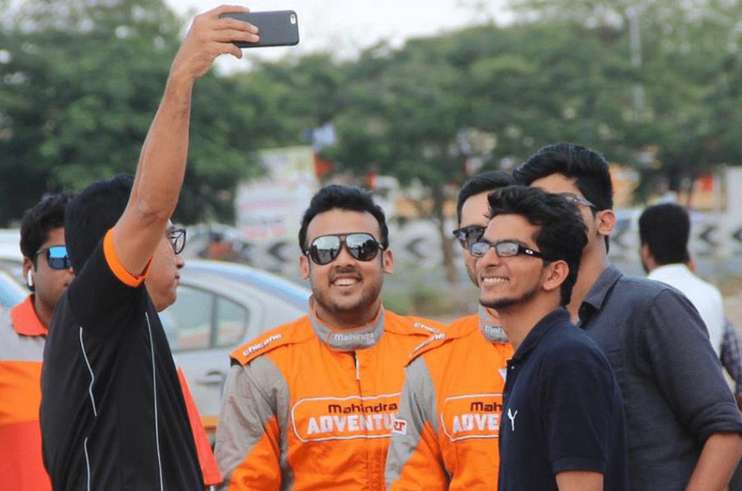 Mahindra Adventure's Amittrajit Ghosh (center) with Musa Sherif (left)