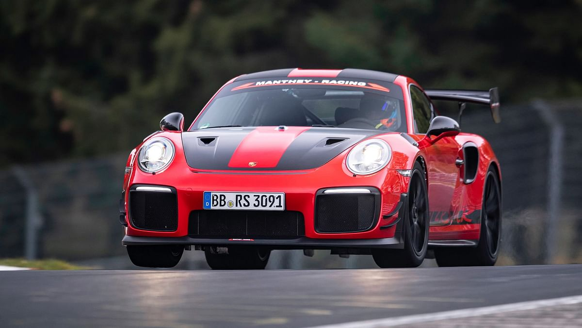 The 691bhp supercar lopped almost seven whole seconds off the standard GT2 RS's 6:47.25 time