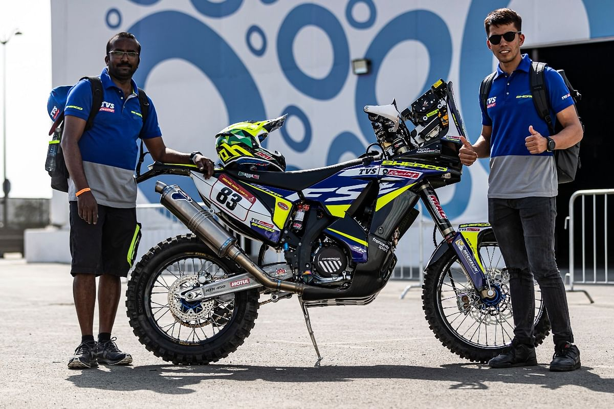 Harith is confident about the abilities of the 2021 Dakar bike