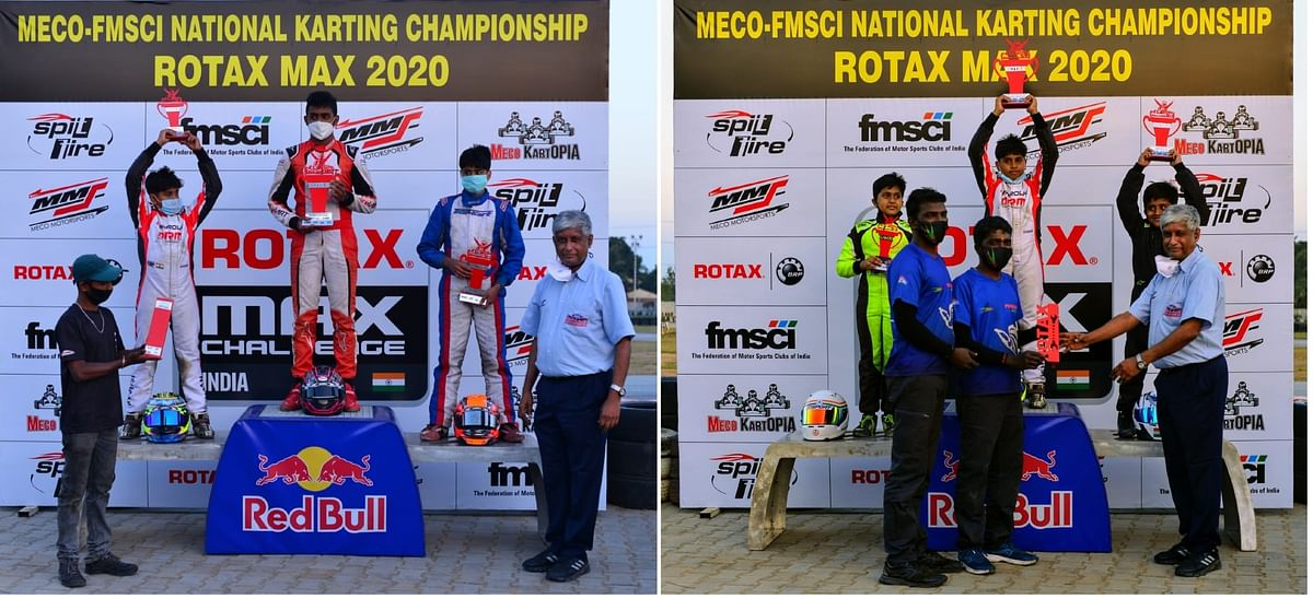 Ishaan Madesh and Rishon Rajeev score a double each in Micro and Junior Max classes