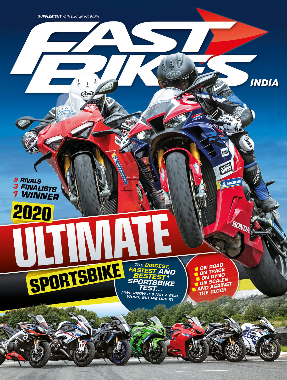 We line up the best superbikes of the year for an epic test