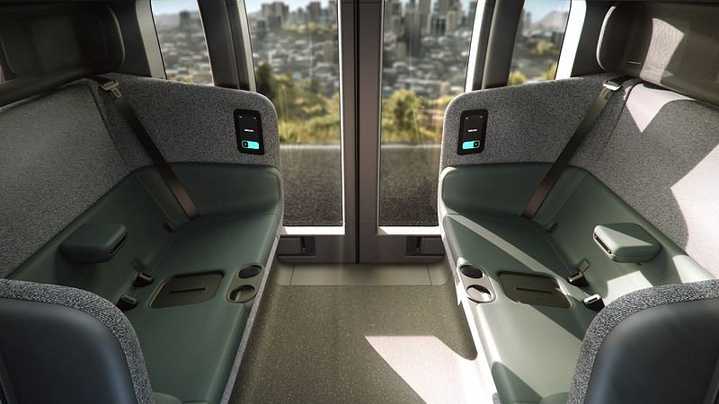Zoox can seat up to four occupants