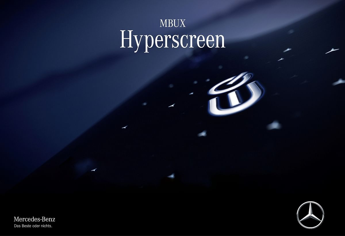 Mercedes-Benz to unveil the MBUX Hyperscreen on January 7