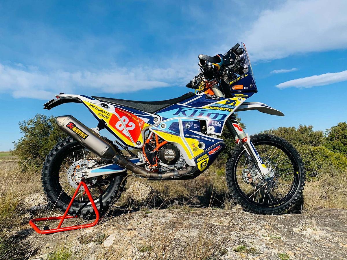 Ashish Raorane's steed for the 2021 Dakar