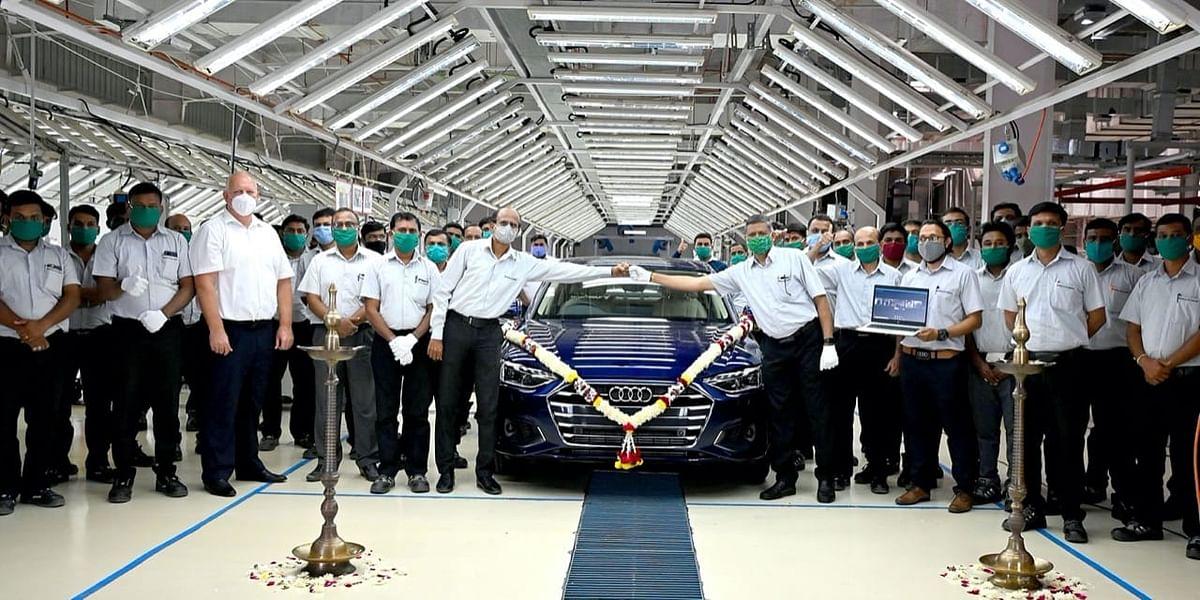 Audi A4 facelift at the SAVWIPL plant, Aurangabad