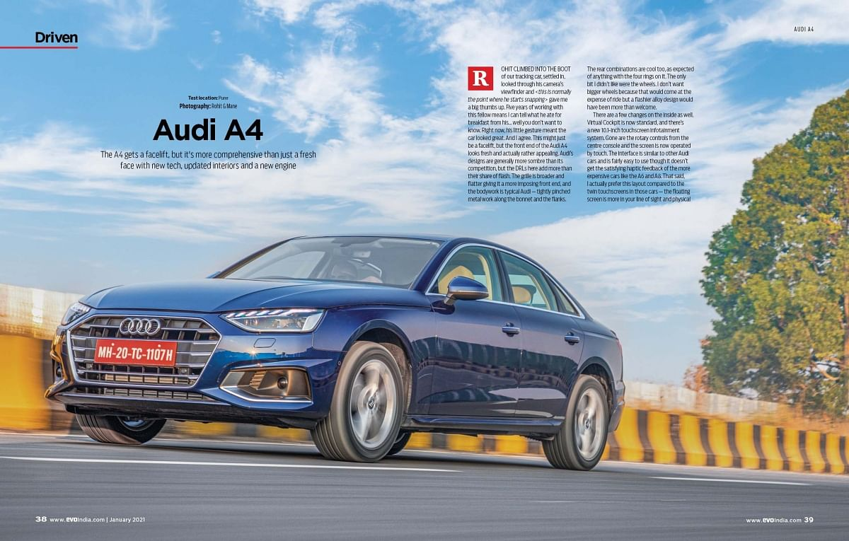 The A4 returns to India post the BS6 transition with a facelift