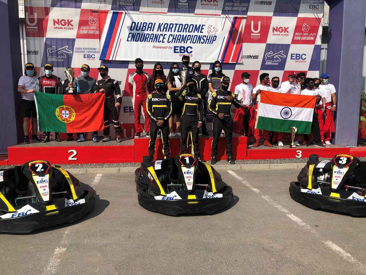 A proud moment for the all-indian team at the top spot of the podium