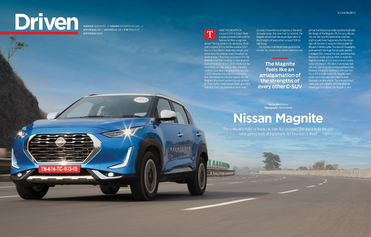 Driving the Nissan Magnite, the newest and the most-affordable SUV in the compact SUV segment