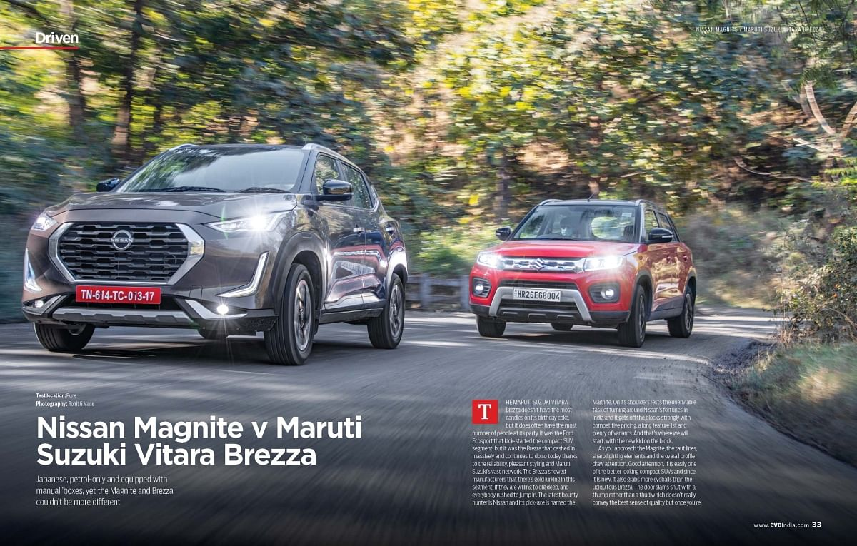 After testing the car last month, we pit the Magnite this month against the Vitara Brezza, which remains the best-selling compact SUV till today