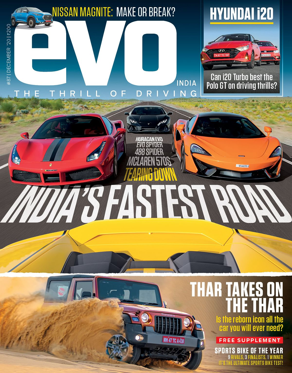 Discovering the fastest roads with the fastest cars