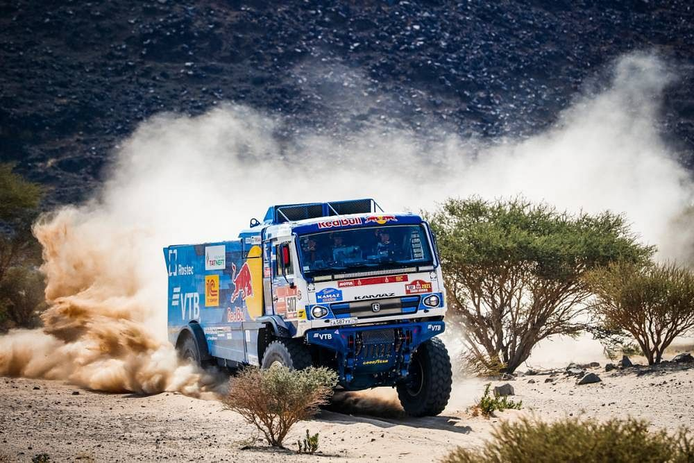 Out of four squads three Kamaz Master teams are in the top four positions