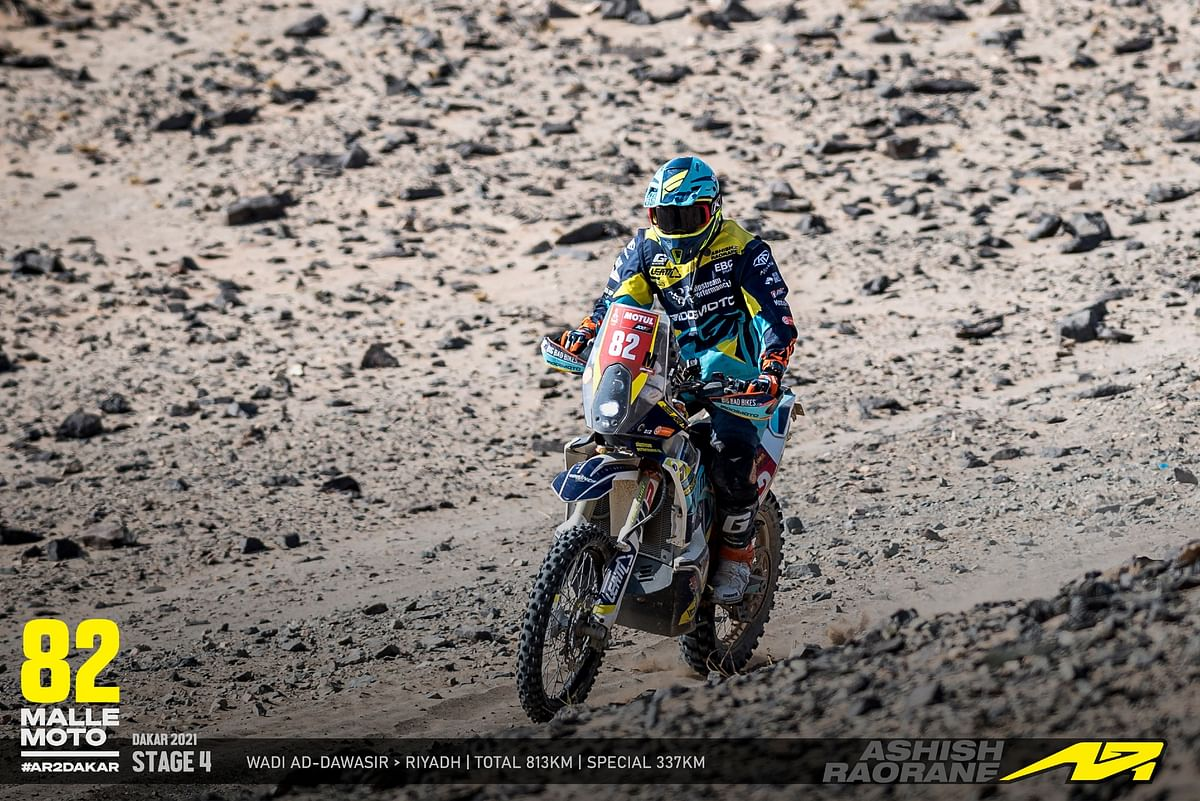 Dakar 2021 Stage 4 | Ashish continues upward trend, while a crash impacts Harith's progress