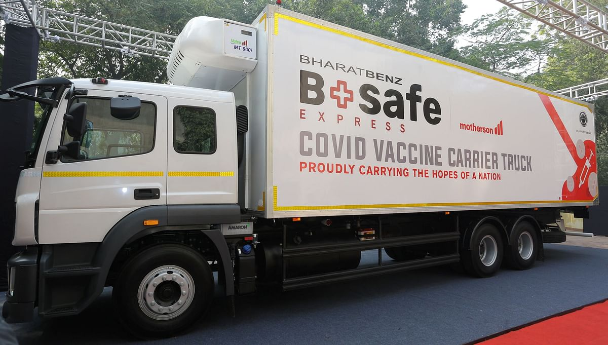 BSafe Express: A purpose built COVID-19 vaccine transportation truck unveiled by DICV