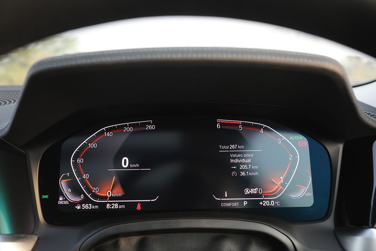 Digital instrument cluster works well, but isn't very configurable
