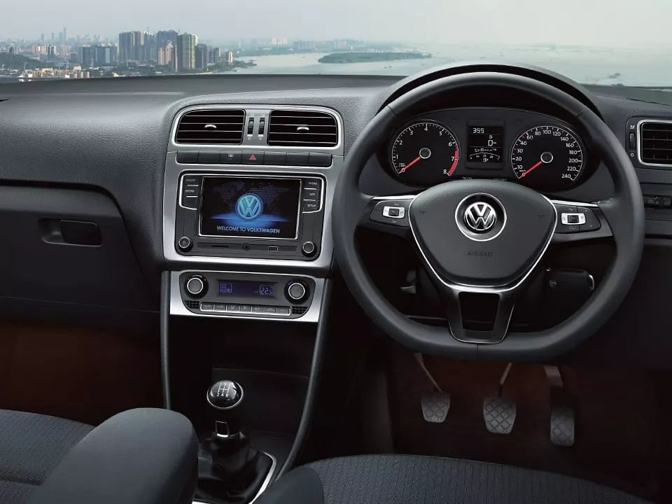 The Polo has a slightly dated cabin and layout but gets most of the advanced features