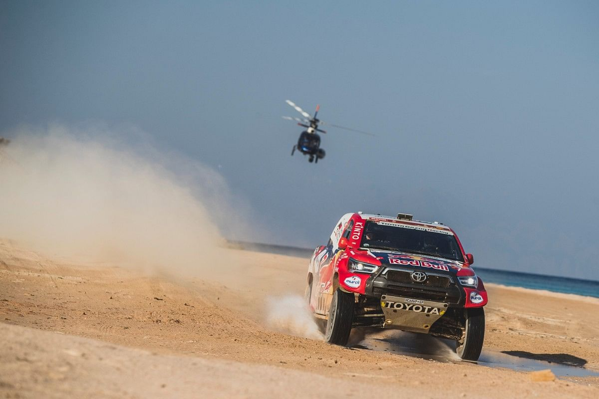 Nasser Al-Attiyah of Toyota Gazoo Racing Team