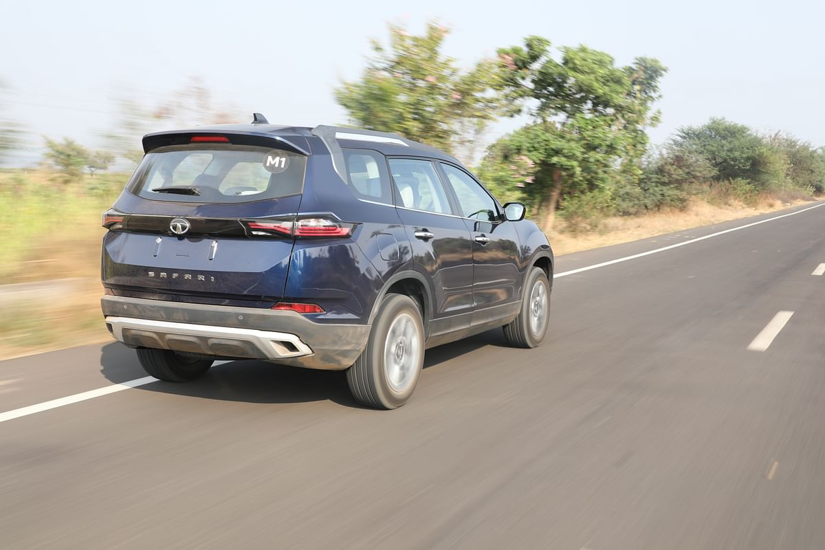 Boxy rear is the most distinctive design element of the Tata Safari