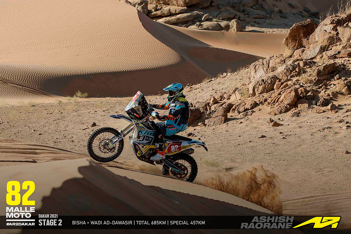 Ashish Raorane at Dakar 2021: Maintaining the momentum in Stage 2