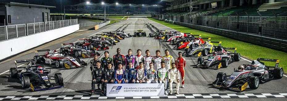 2020 Formula 3 Asian Championship driver lineup