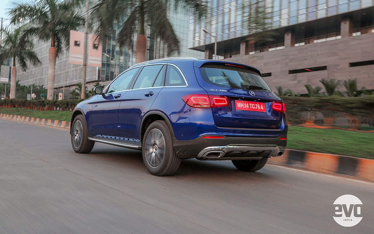 Styling on the 2021 Mercedes GLC is identical to the outgoing one