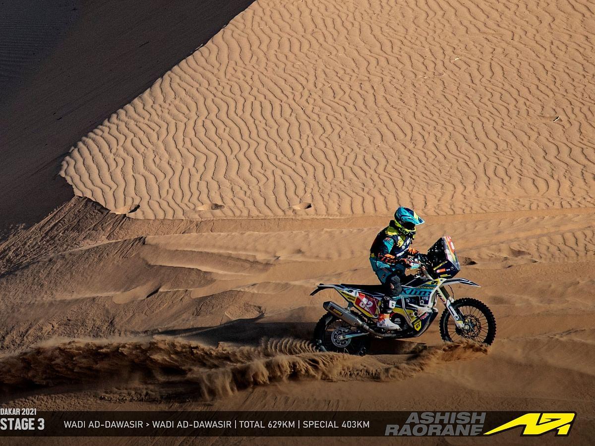 Ashish Raorane at Dakar 2021: Steady progress in Stage 3