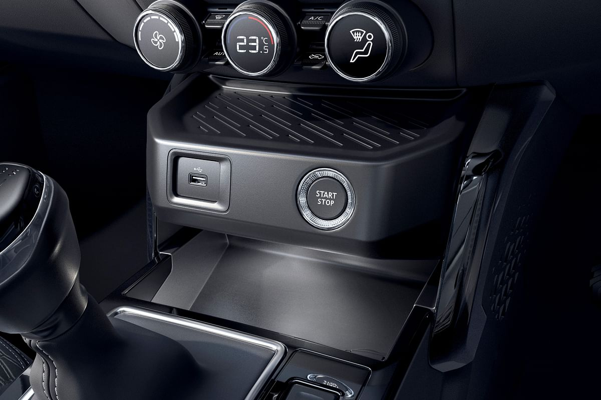 The start/stop button, controls for the AC and door locks among others that are situated on the centre console are identical to the ones on Magnite