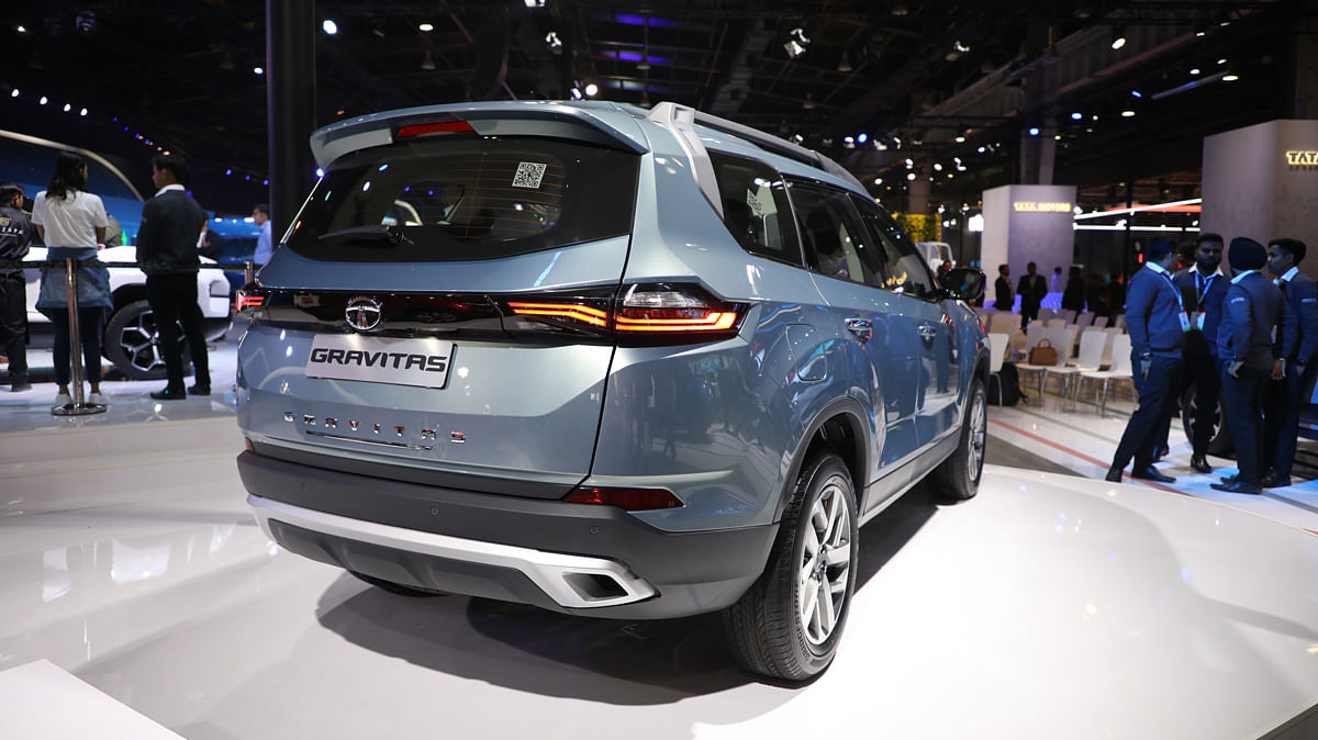 The rear of the Tata Safari will be different from the Harrier