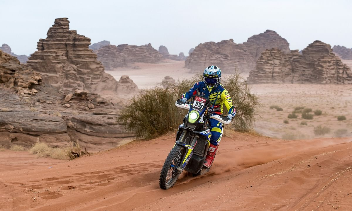 Harith continued his momentum in Stage 10 of the 2021 Dakar