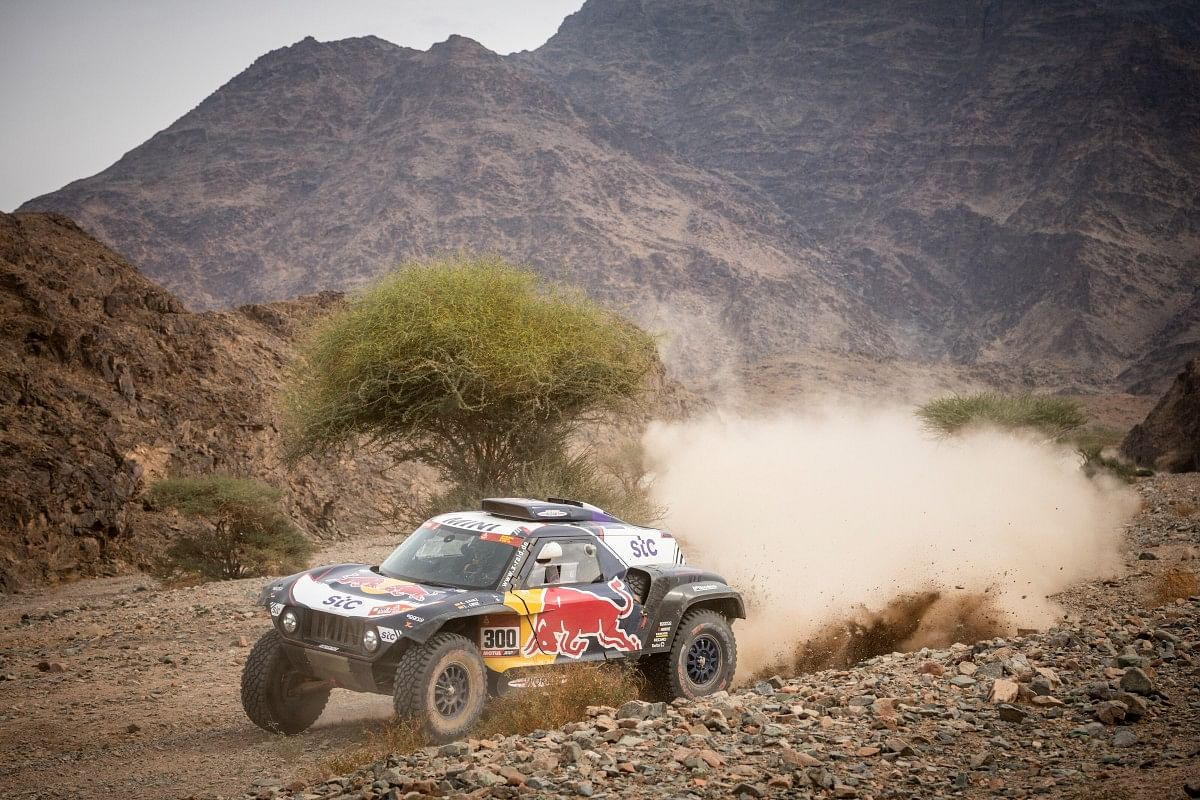 Carlos Sainz of the X-Raid Mini JCW team