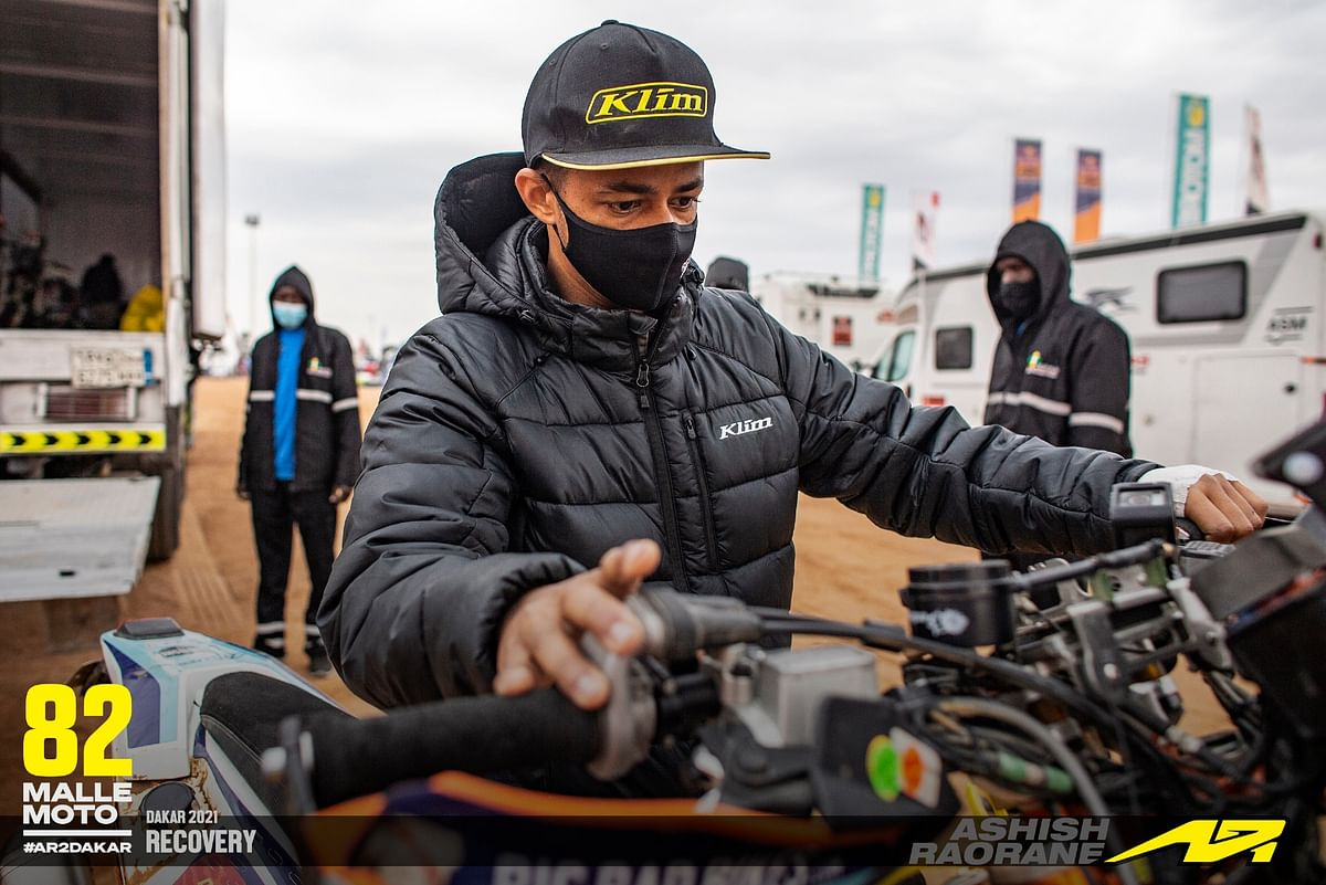 Nothing seems to stop Ashish from getting back into the Dakar fray