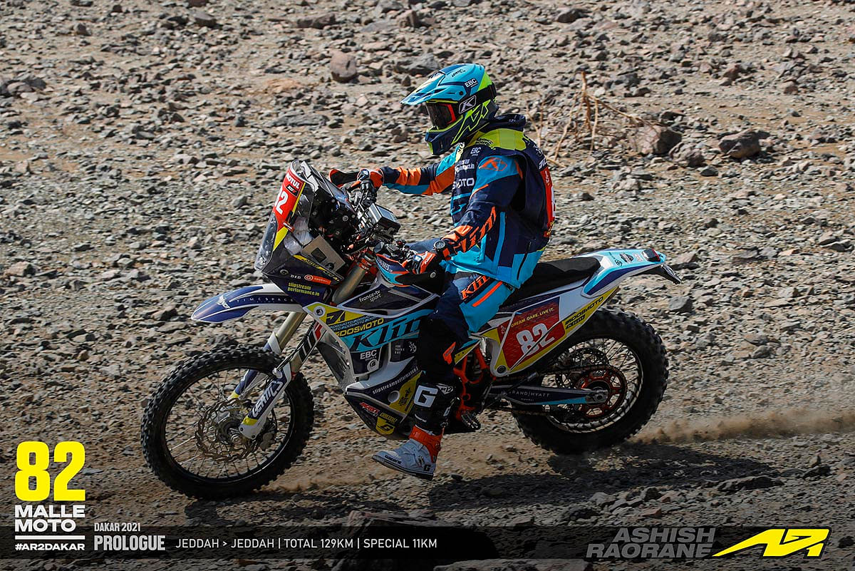 Ashish Raorane at Dakar 2021: Scrutineering, Prologue and Stage 1