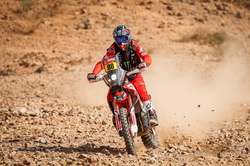 Dakar 2021 - Joan Barreda Bort leads Stage 2 in bikes category